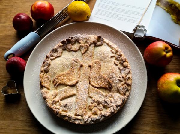 Apfelkuchen, Pie, Microplane, Valentinstag Mürbteig rezept