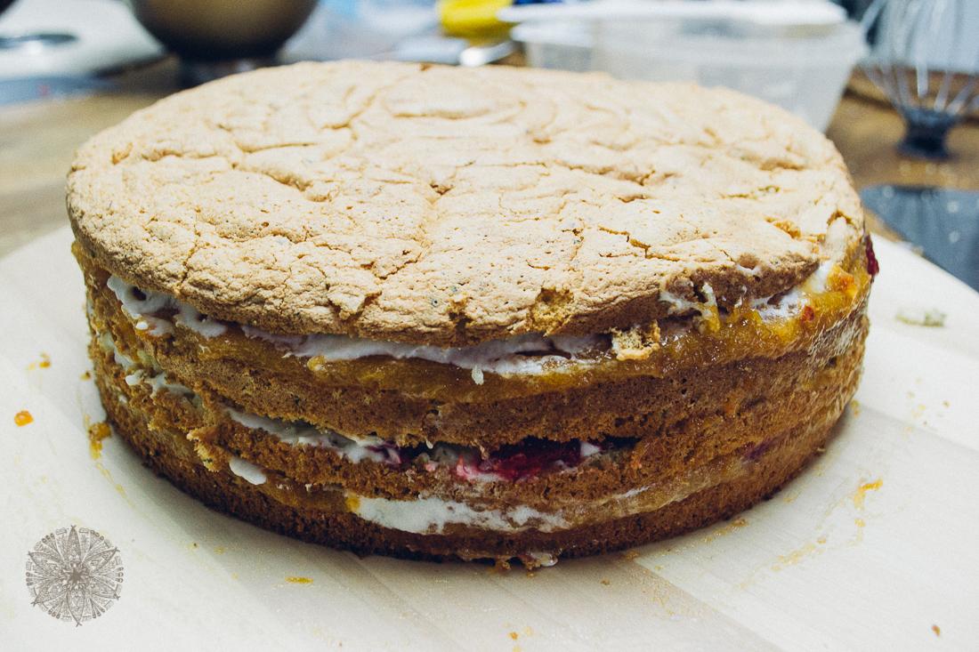 FrauBpunkt Aprikosen Himbeer Torte-22