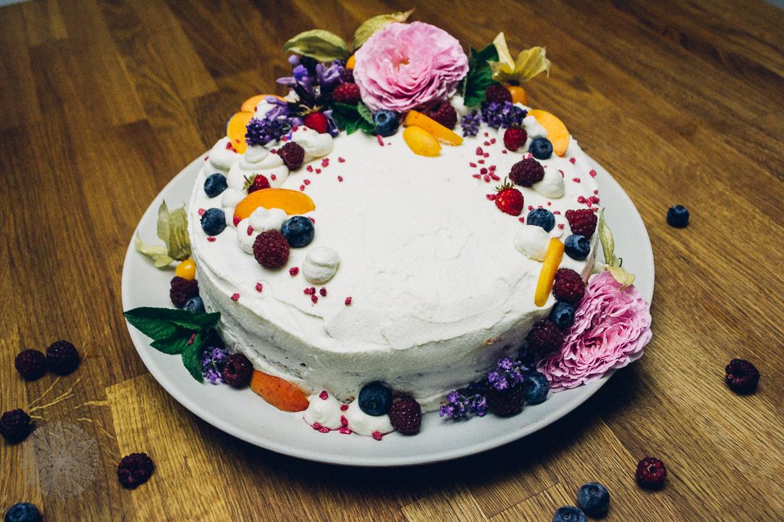 FrauBpunkt Aprikosen Himbeer Torte-23