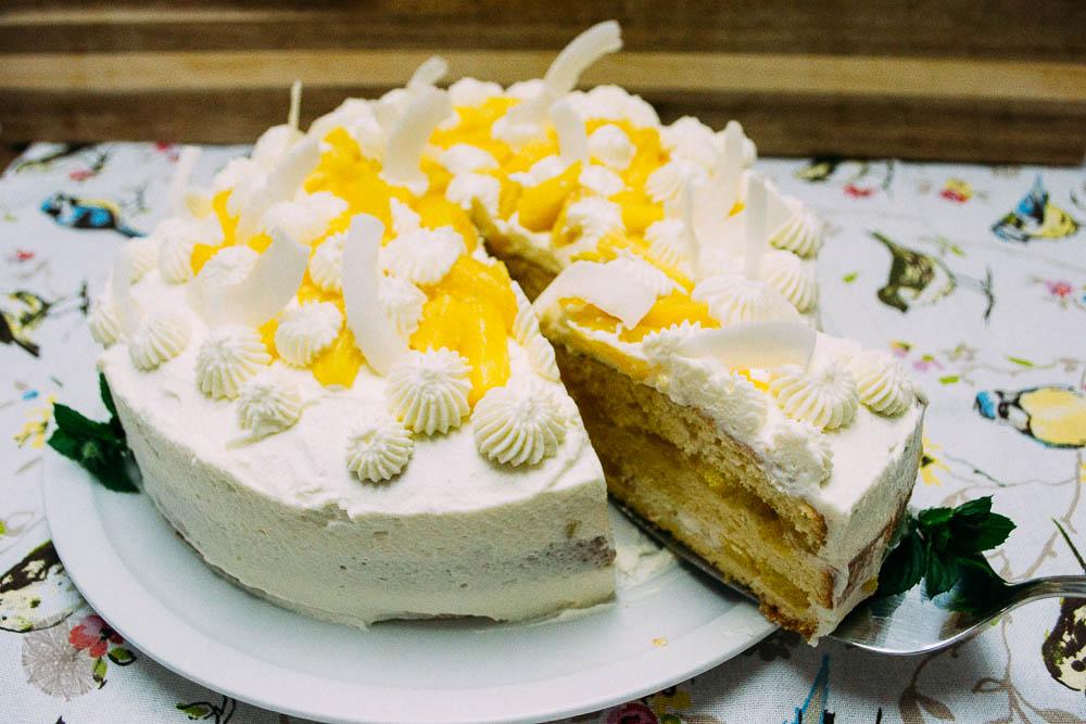 FrauBpunkt Ananassahne Torte Rezept-14