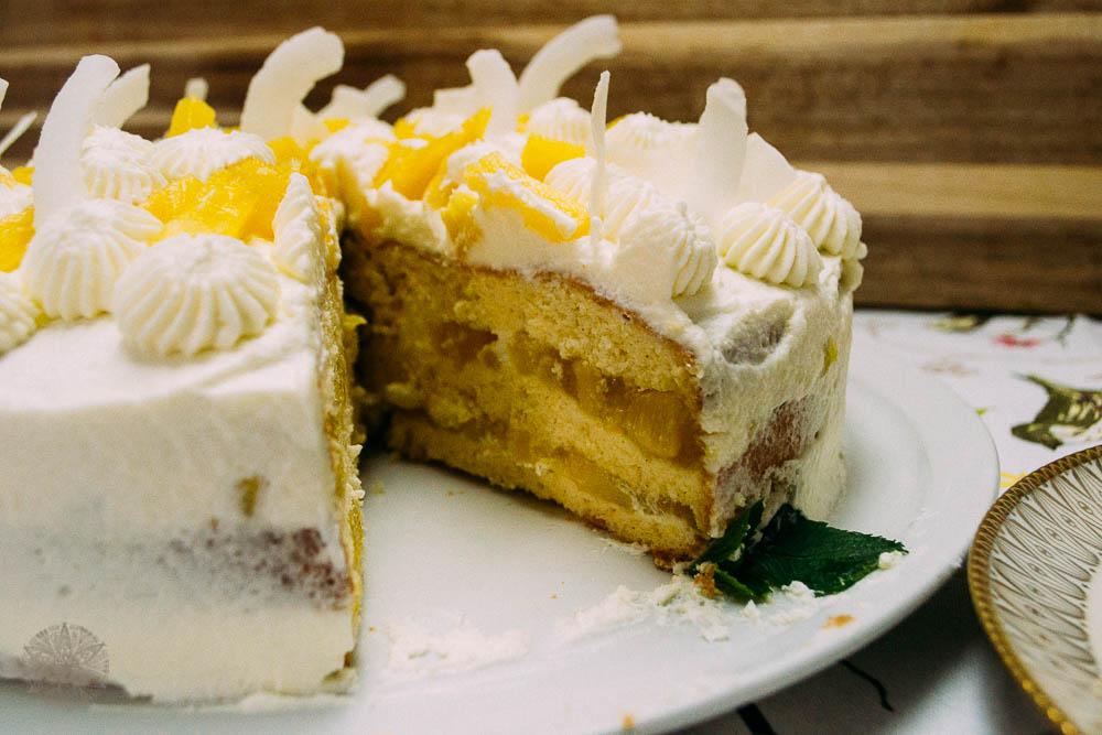 FrauBpunkt Ananassahne Torte Rezept-19