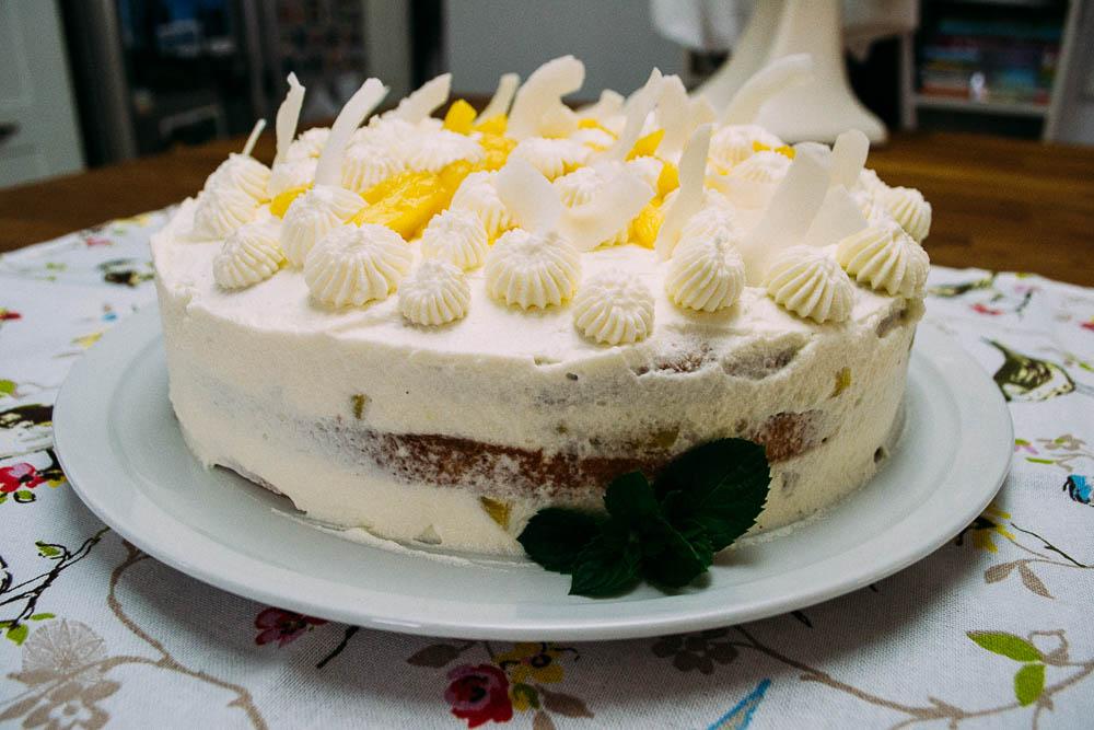 FrauBpunkt Ananassahne Torte Rezept-8