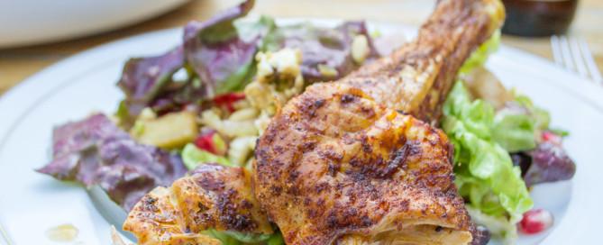 FrauBpunkt Brathähnchen Granatapfel Popcorn Salat E njoyFood (18 von 21)