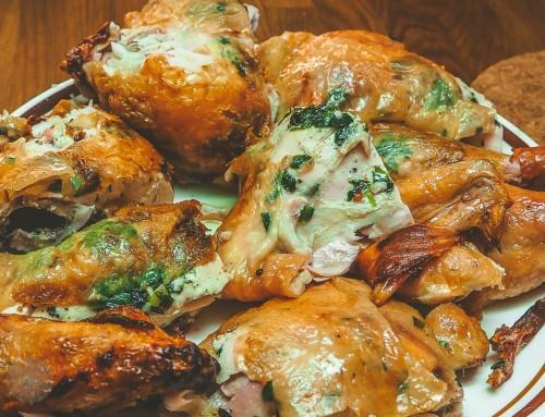 Farben über Farben – Hühnchen vom Grill mit Bärlauch Butter